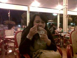 Me eating Ice Cream